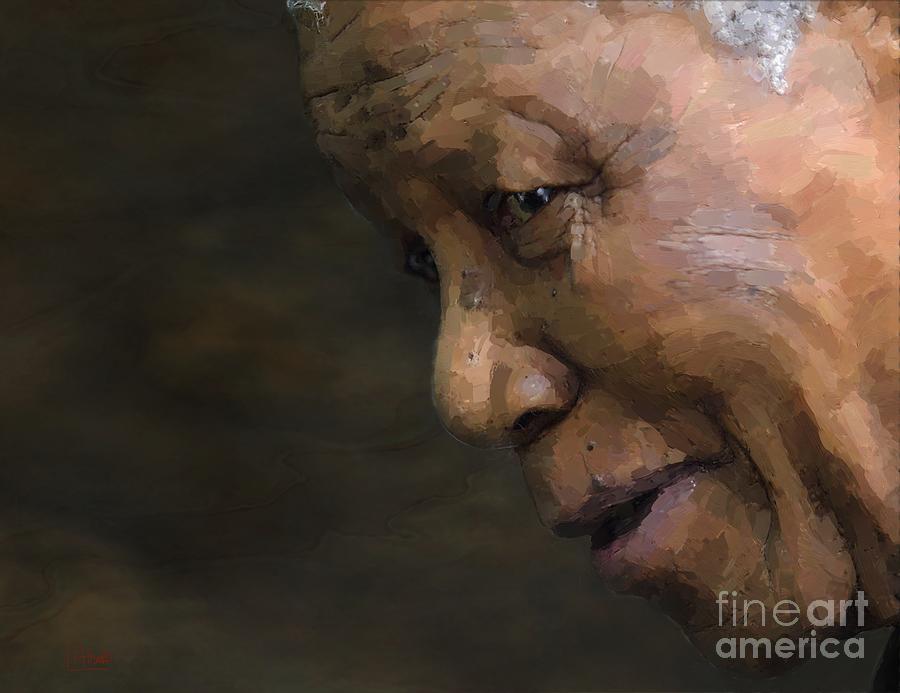 Nelson Mandela Digital Art - Nelson Mandela by Les Allsopp
