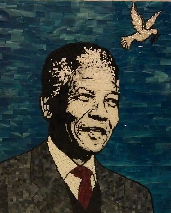 Man Of Peace Mixed Media - Nelson Mandela Man Of Peace by Dalene Smit