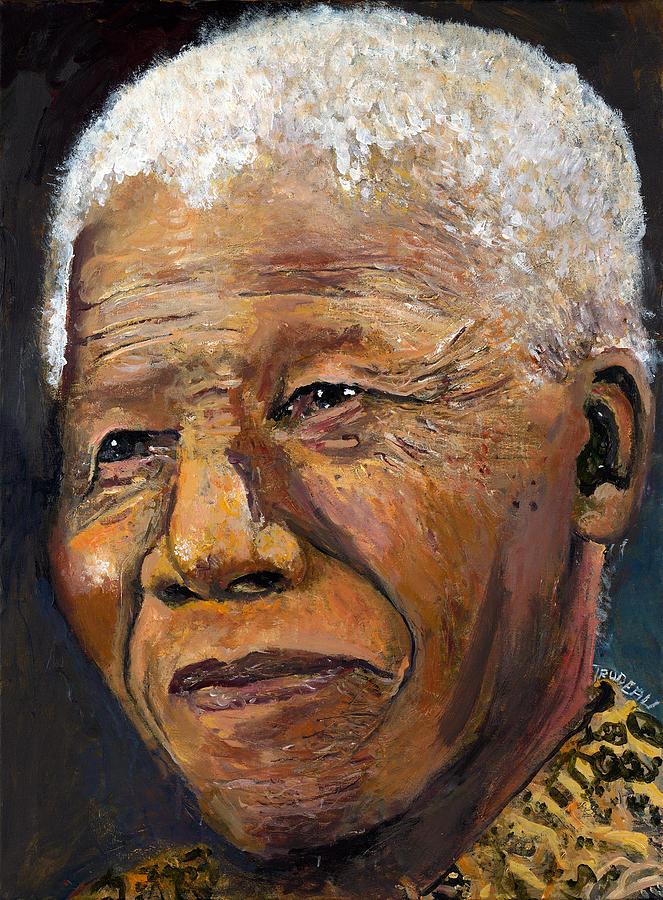 Nelson Mandela by Patricia Trudeau