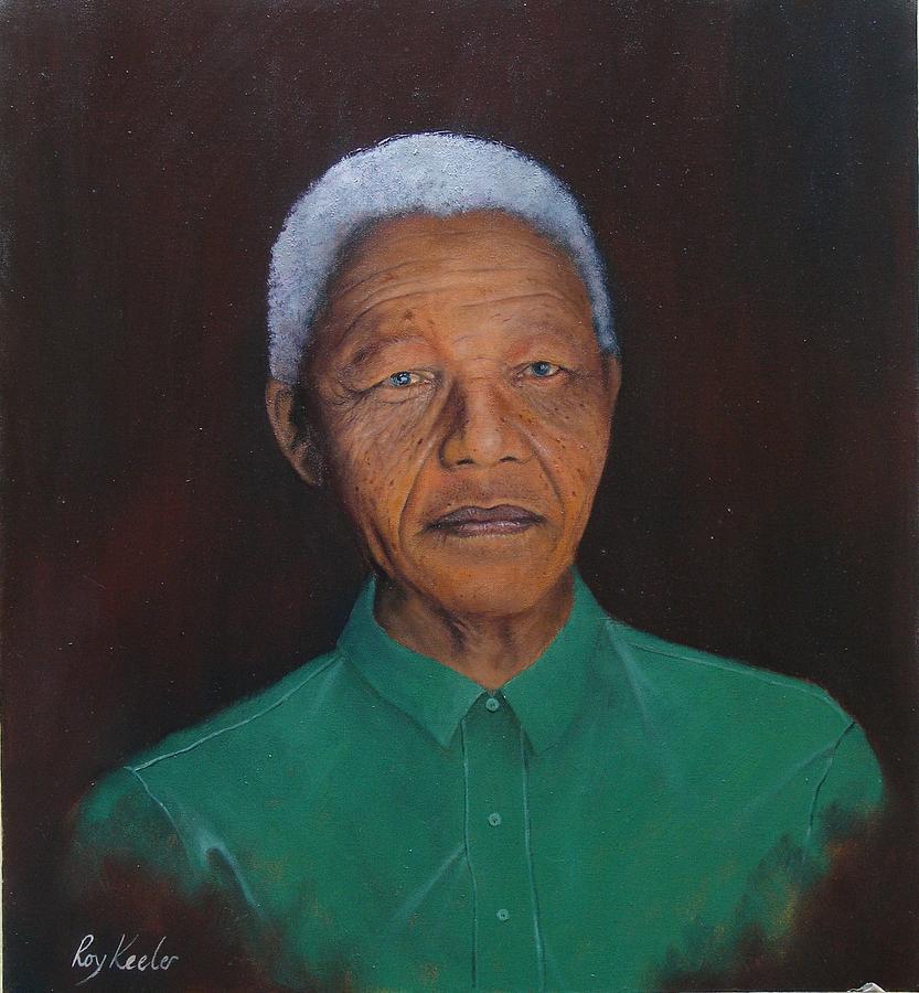 Nelson Mandela Painting - Nelson Mandela by Roy Keeler