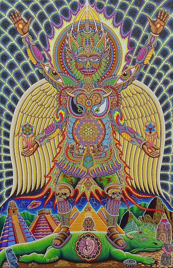 Moksha Painting - Neo Human Evolution by Chris Dyer