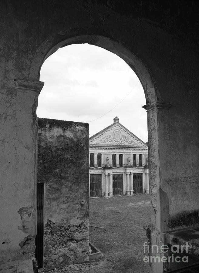 Neoclassical Storehouse And Arch Yaxcopoil Mexico Photograph
