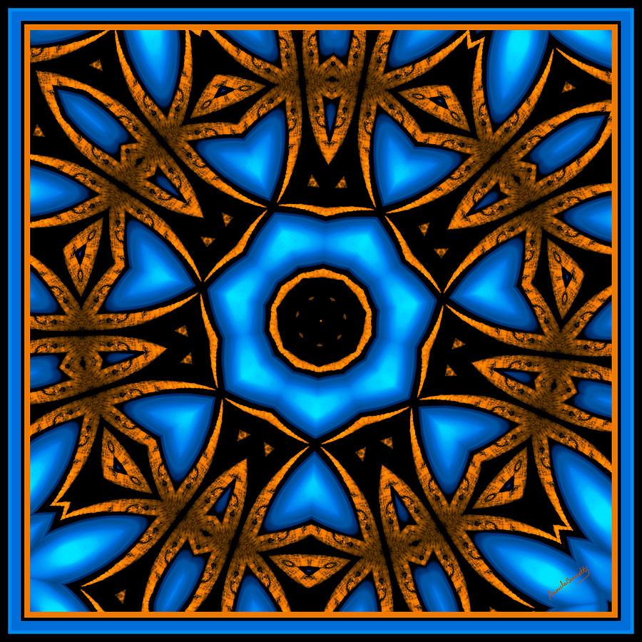 Neon Blue Crown Of Flowers Digital Art By Marcela Bennett