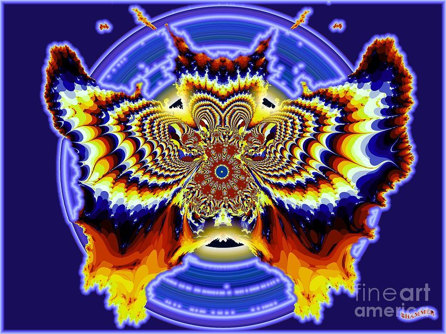 Butterfly Digital Art - Neon Butterfly by Bobby Hammerstone