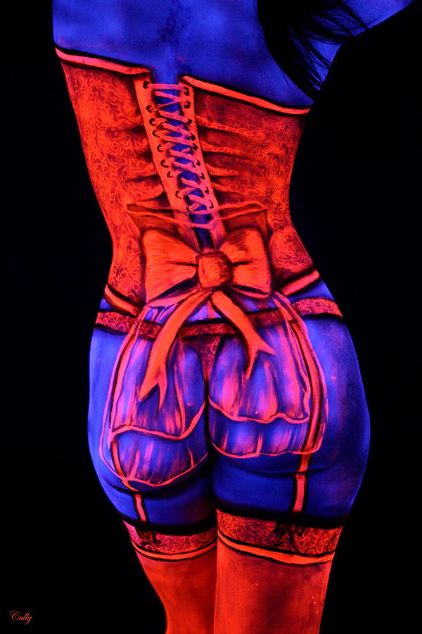Bodypaint Photograph - Neon Dream I by Angela Rene Roberts and Cully Firmin