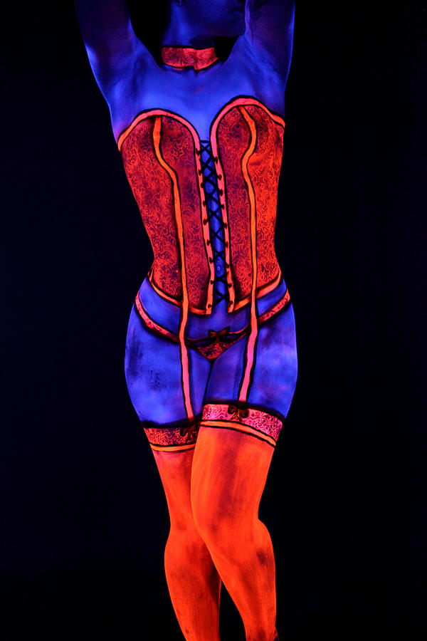 Bodypaint Photograph - Neon Dream II by Angela Rene Roberts and Cully Firmin