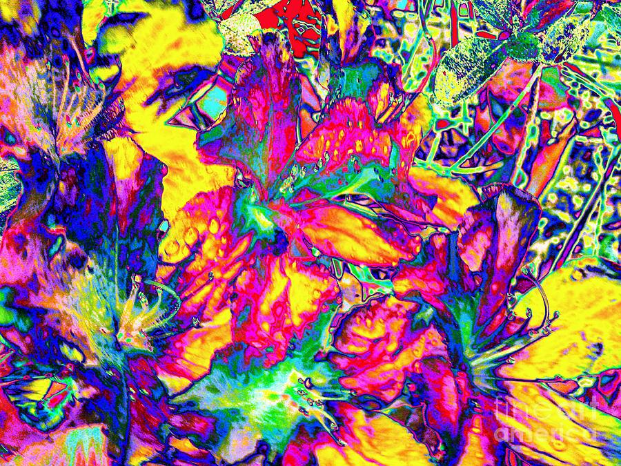 Abstract Photograph - Neon Garden-neon Series by Rhonda Lee