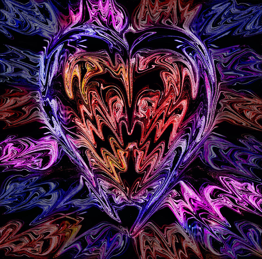 Illuminous Photograph - Neon Heart by Anthony Bean