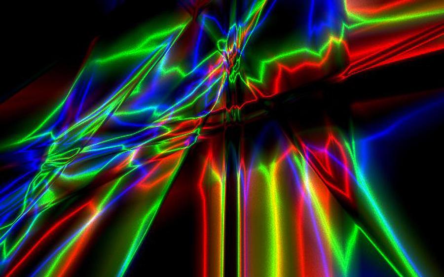 Neon Digital Art - Neon Lightning by Krazee Kustom