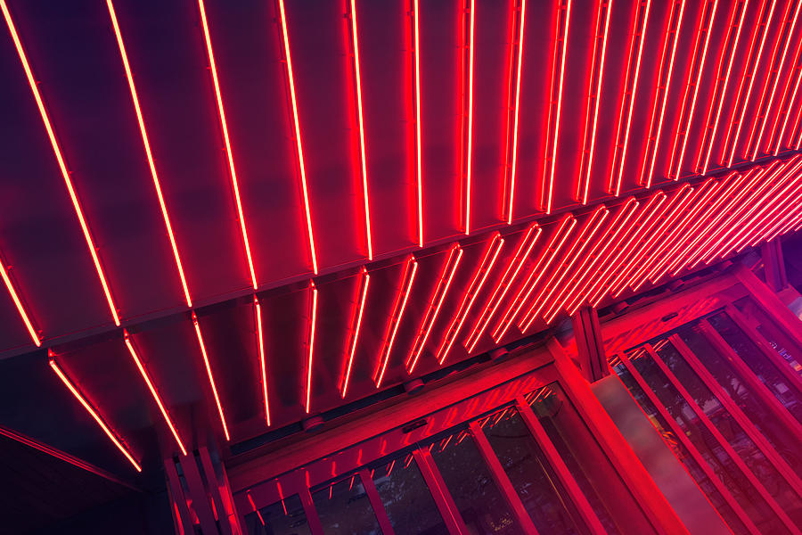 Neon Lit Entrance Photograph by Marcus Lindstrom
