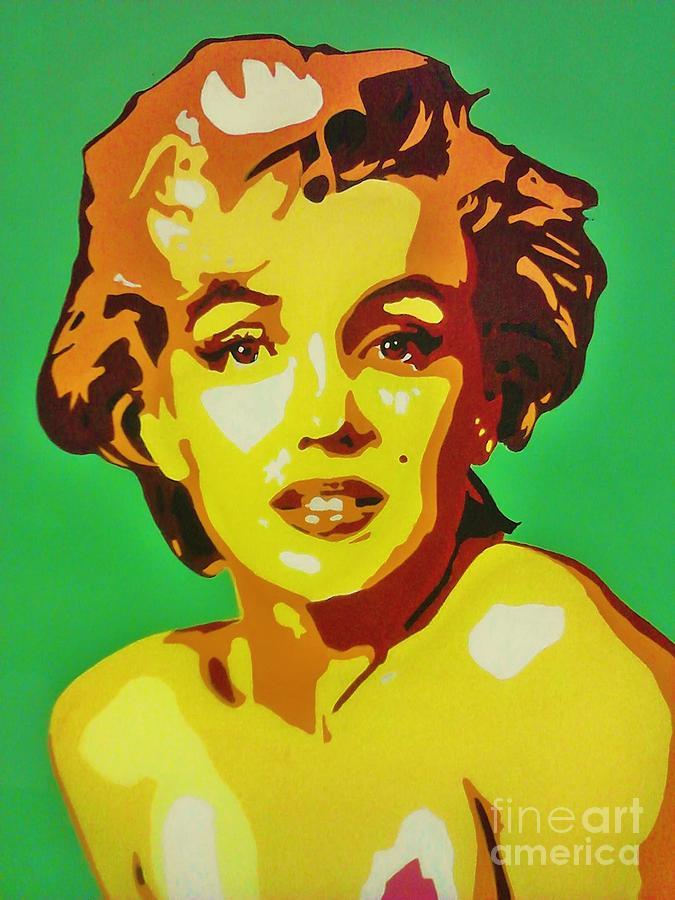 Neon Marilyn Monroe Painting by Grant Swinney