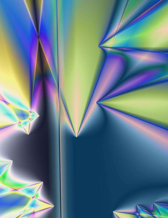 Neon Digital Art - Neon Pyramids by Krazee Kustom
