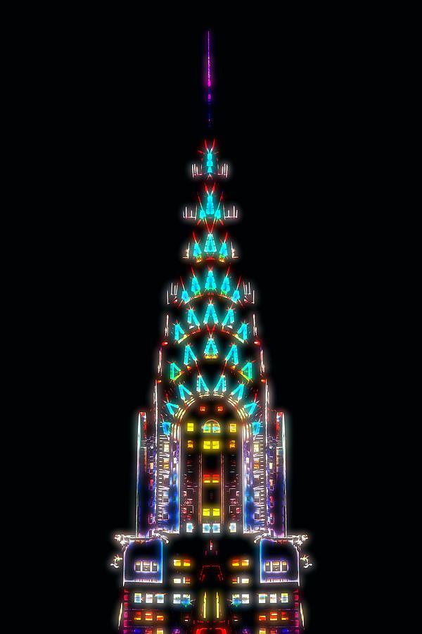 New York City Digital Art - Neon Spires by Az Jackson