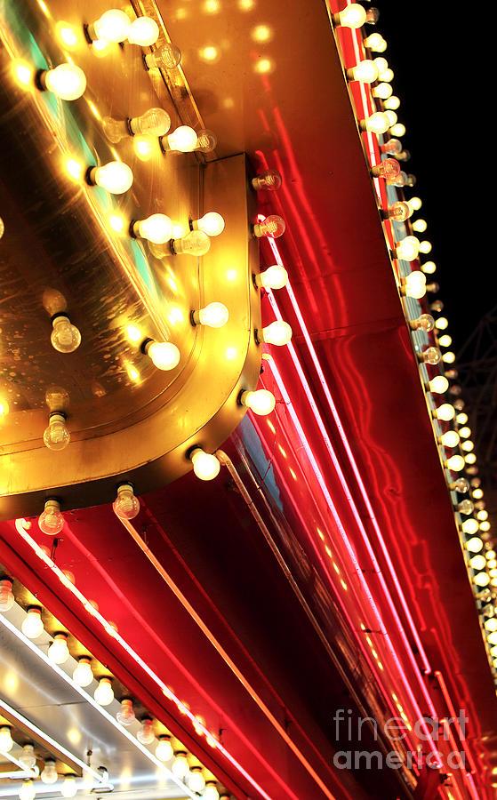 Neon Lights Photograph - Neon Vegas by John Rizzuto