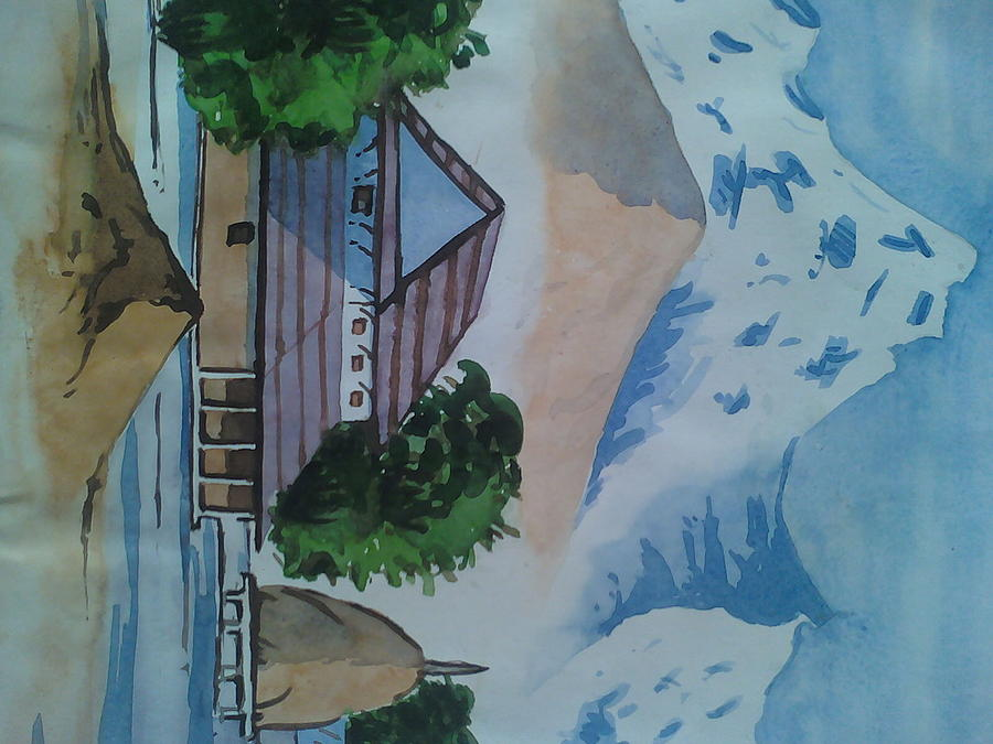 Nepali House Painting - Nepali House by Aradhya Adhikari