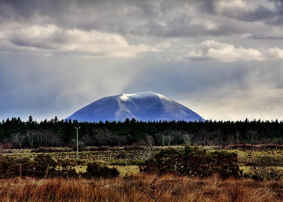 Mountain Photograph - Nephin With A Cap by Tony Reddington