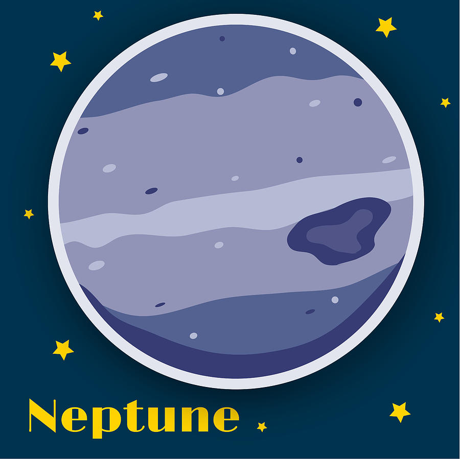 Neptune Drawing - Neptune by Christy Beckwith