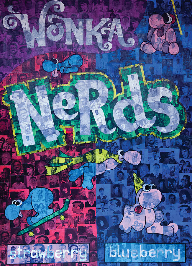 Nerds Painting - Nerds by Brent Andrew Doty