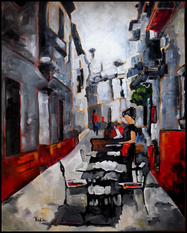 Spain Painting - Nerja Spain by Vickie Warner
