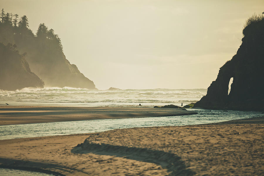 Mountain Photograph - Neskowin Beach, Oregon by Christopher Kimmel