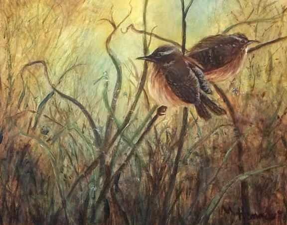 Birds Painting - Nesting Ground by Mary Lou Henne