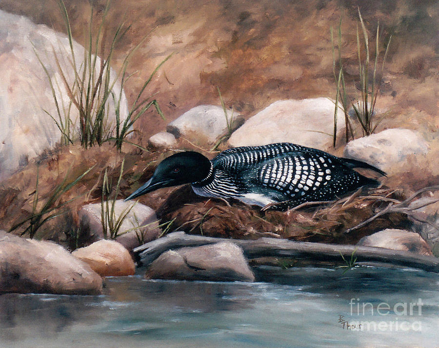 Wildlife Painting - Nesting Time by Brenda Thour