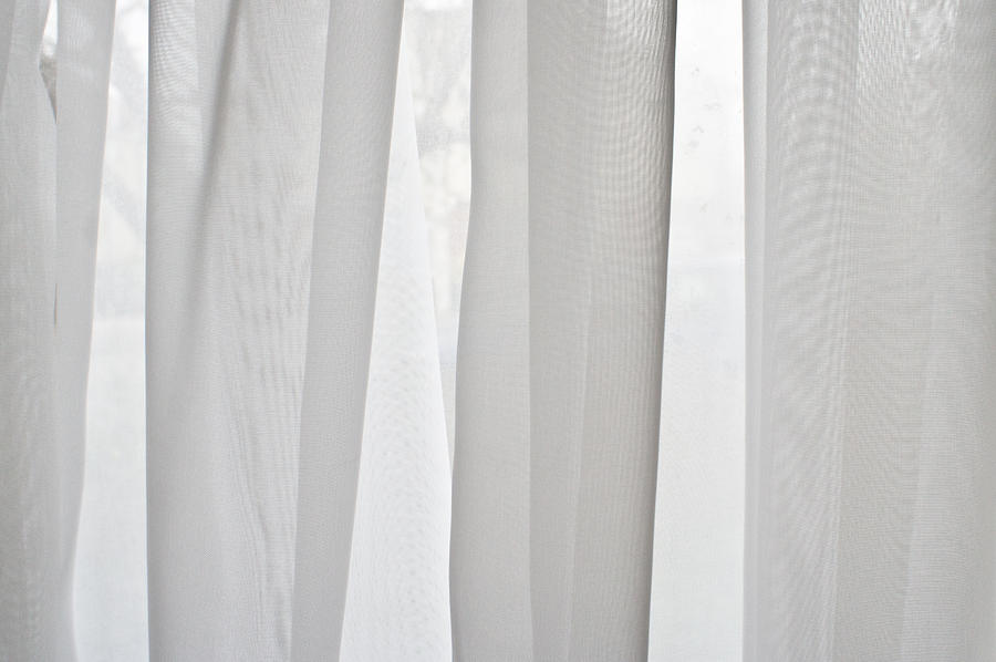 Abstract Photograph - Net Curtain by Tom Gowanlock