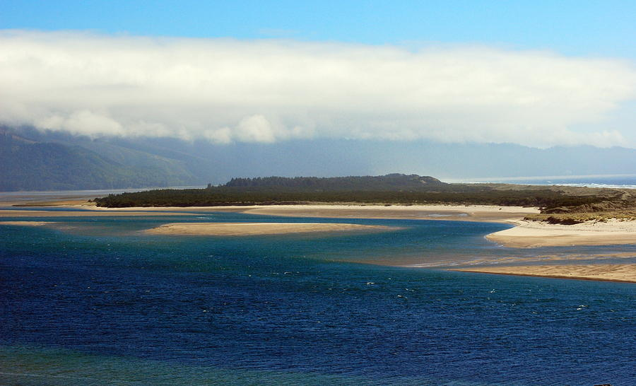 Seascape Photograph - Netarts Bay by Mamie Gunning