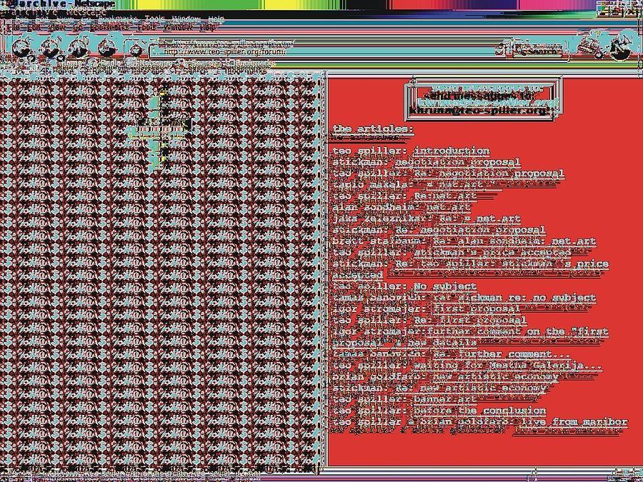 Screensaver Digital Art - Net.art.trade by Teo Spiller
