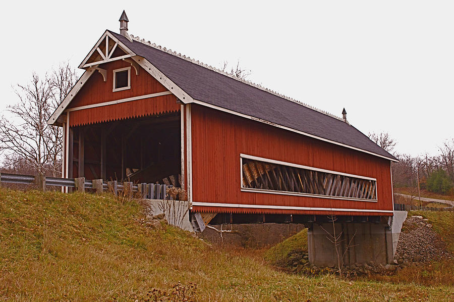 Ohio Photograph - Netcher Road Covered Bridge by Jack R Perry