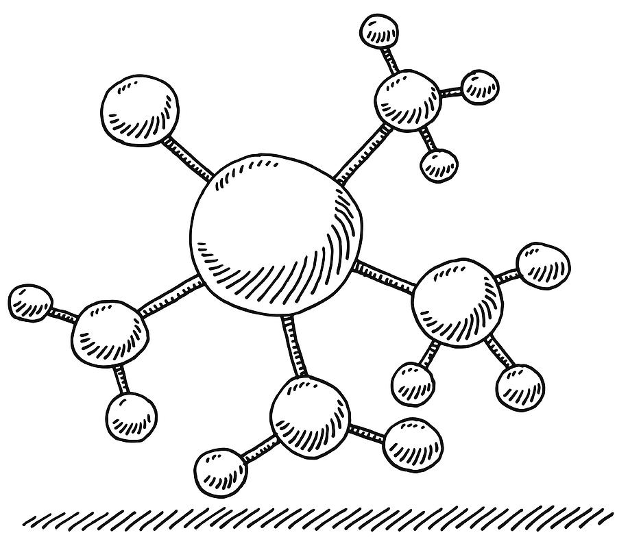 Network Branch Connection Symbol Drawing Drawing by FrankRamspott