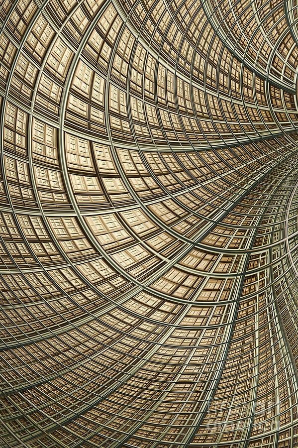 Lines Digital Art - Network Gold by John Edwards