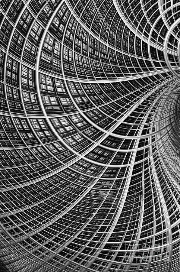 Mesh Digital Art - Network II by John Edwards