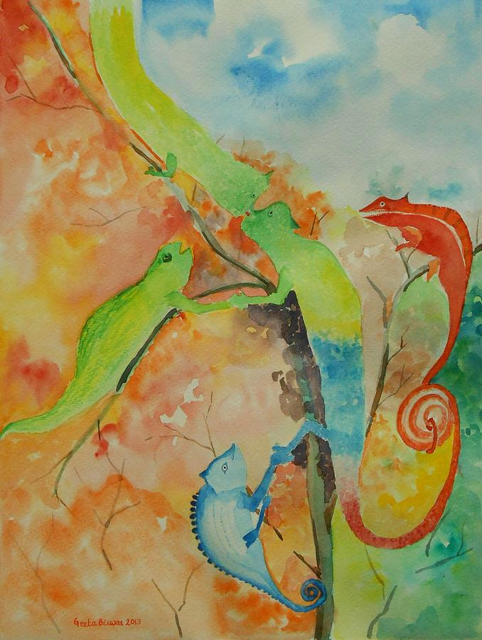 Networking Painting - Networking by Geeta Biswas