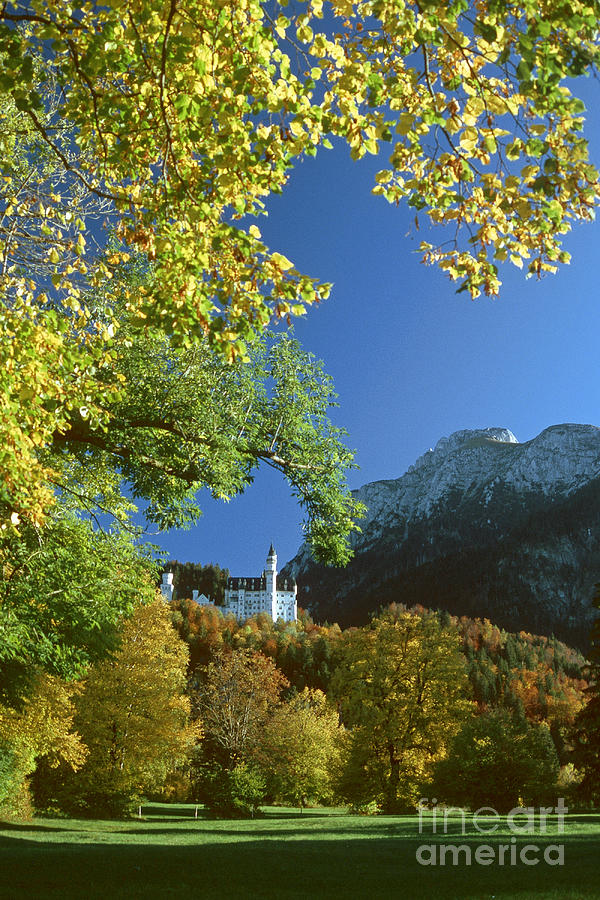 Prott Photograph - Neuschwanstein Castle Bavaria In Autumn by Rudi Prott