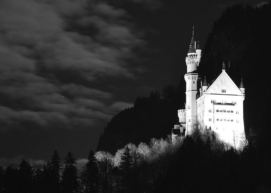 Moonlit Night Photograph - Neuschwanstein Castle by Matt MacMillan