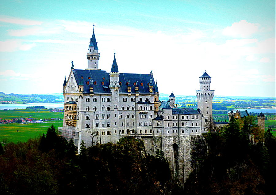 Neuschwanstein Photograph - Neuschwanstein Castle  by The Creative Minds Art and Photography