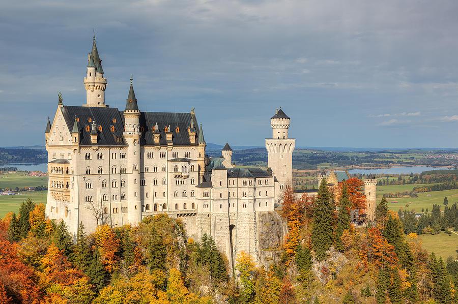 Schloss Photograph - Neuschwanstein by Marcel Kaiser