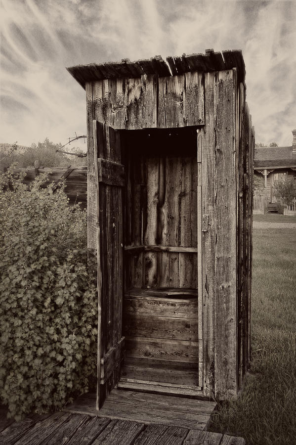 Outhouse Photograph - Nevada City Ghost Town Outhouse - Montana by Daniel Hagerman