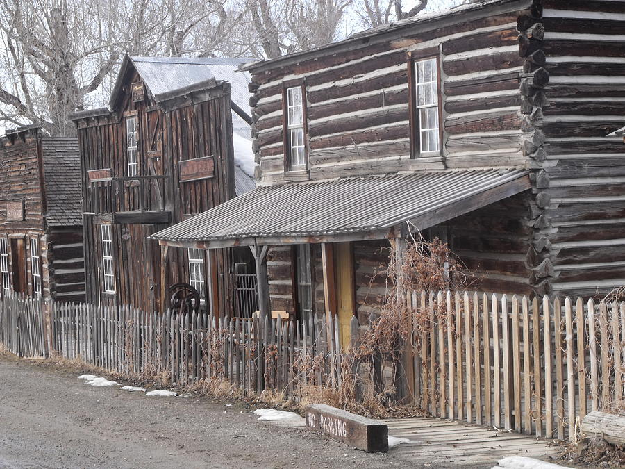 Ghost Town Photograph - Nevada City Mt by Yvette Pichette