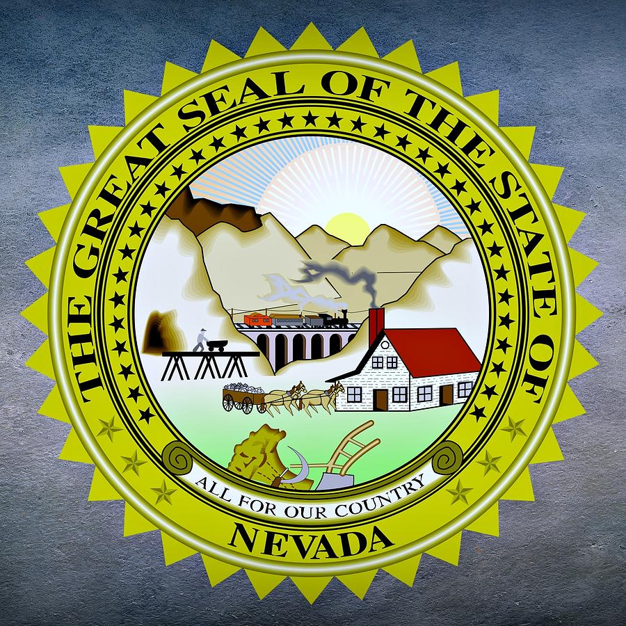 Nevada Digital Art - Nevada State Seal by Movie Poster Prints