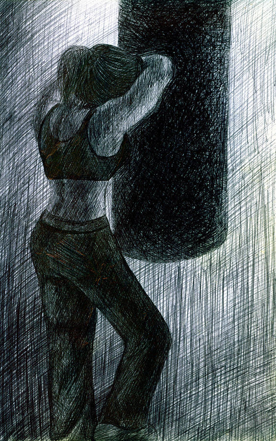 Boxing Drawing - Never Enough by Kd Neeley