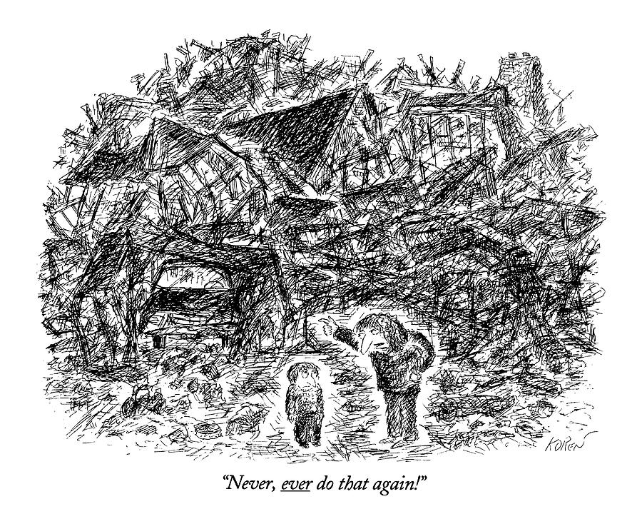 Never, Ever Do That Again! Drawing by Edward Koren