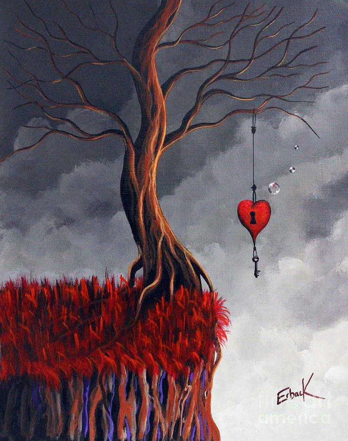 Surreal Painting - Never Letting Go by Shawna Erback