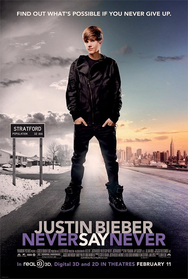 Justin Bieber Photograph - Never Say Never 1 by Movie Poster Prints