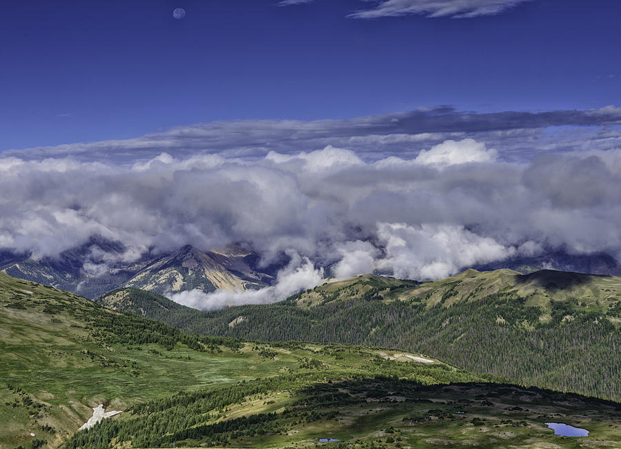 Rmnp Photograph - Never Summer Mtns In Clouds by Tom Wilbert