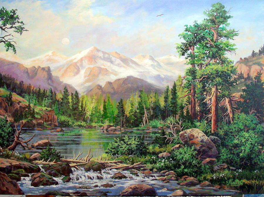 Mountains Painting - Never Summer Range by W  Scott Fenton