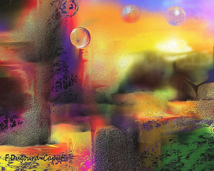 Abstract Digital Art - Neverland by Francoise Dugourd-Caput