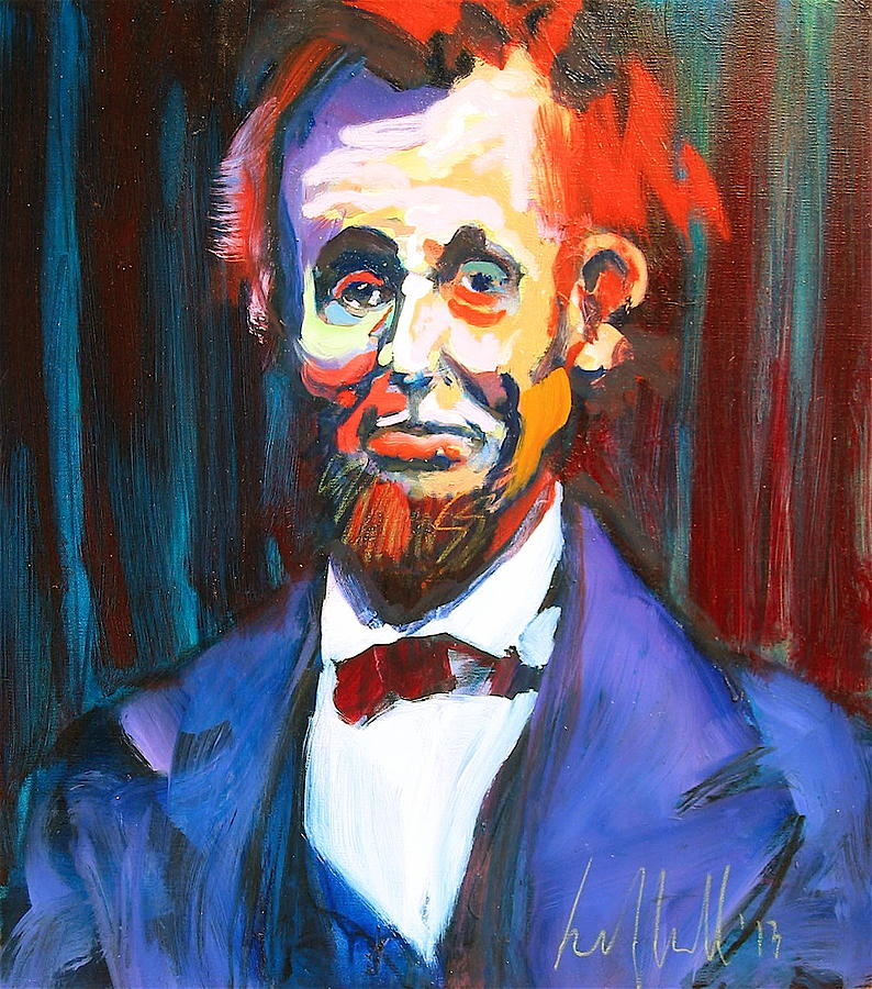Portraits Painting - New Abe by Les Leffingwell