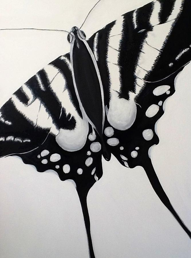 Butterfly Painting - New Beginning by Matthew Abraham